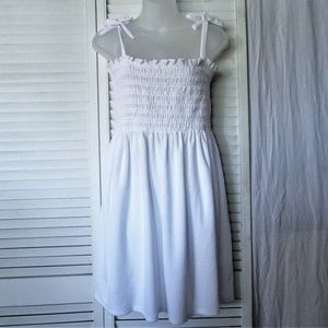 Juicy Couture white terry cloth tube dress L